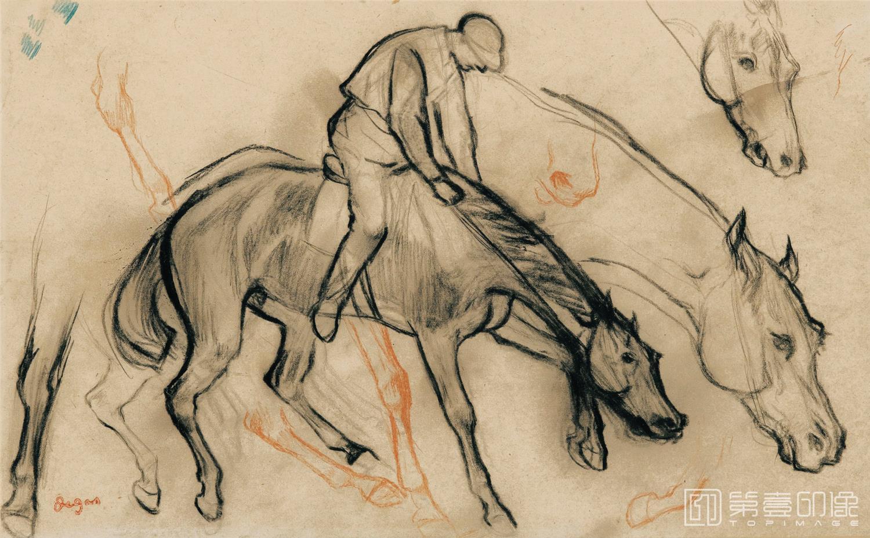 速写-埃德加·德加 Edgar Hilaire Germain de Gas作品集-328