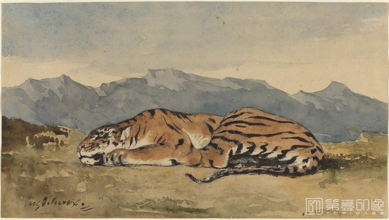 水彩画-德拉克罗瓦 Eugène Delacroix作品集-085