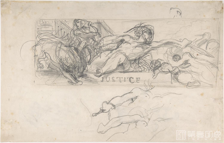 速写-德拉克罗瓦 Eugène Delacroix作品集-116