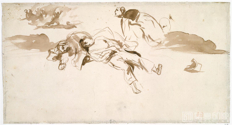 水彩画-德拉克罗瓦 Eugène Delacroix作品集-129
