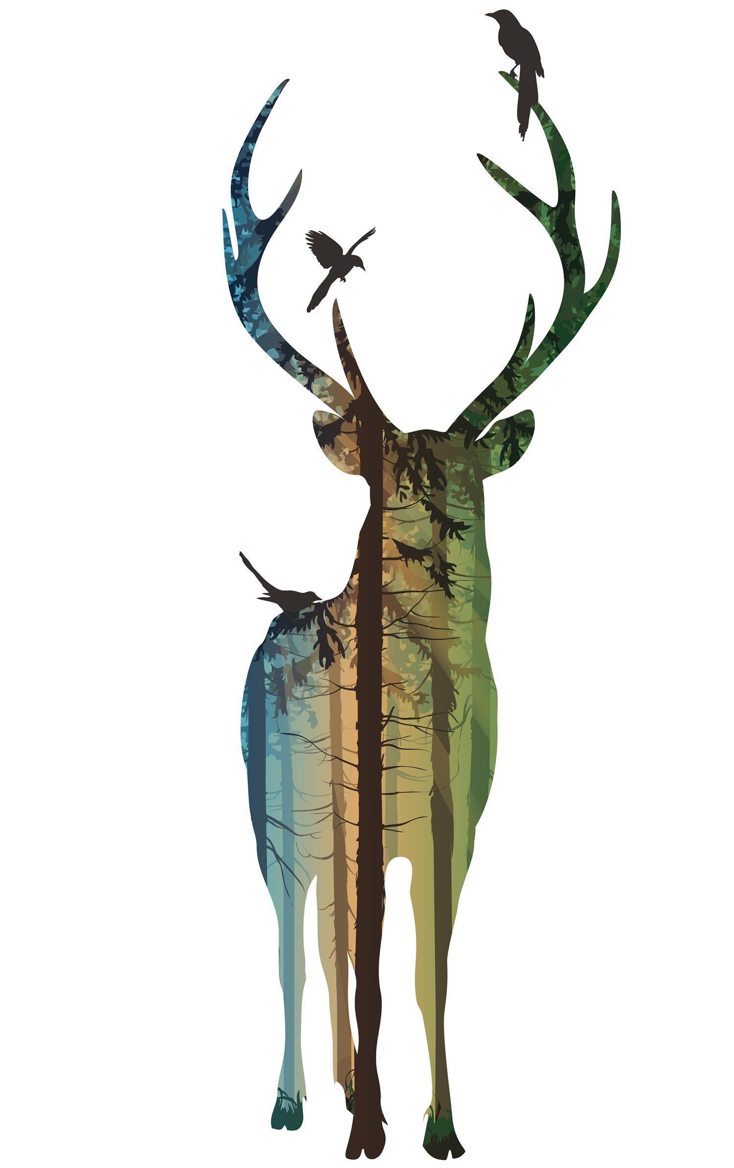 艺术设计-麋鹿的一家套图-07