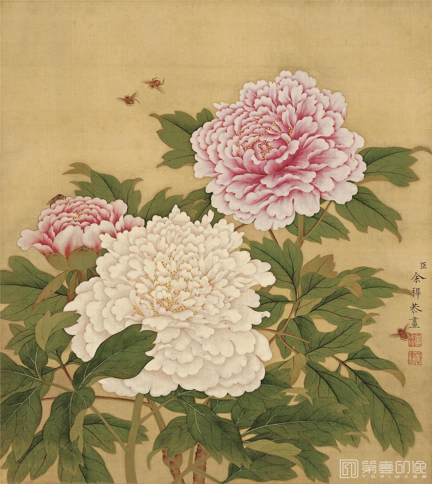 国画-国画-清-余稚-花鸟册-绢本-007-33x37cm