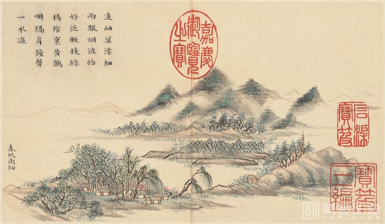 国画-国画-清-黄钺-四春图册-纸本-001-23.9x13.9cm