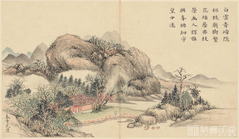 国画-国画-清-黄钺-四春图册-纸本-002-23.9x13.9cm