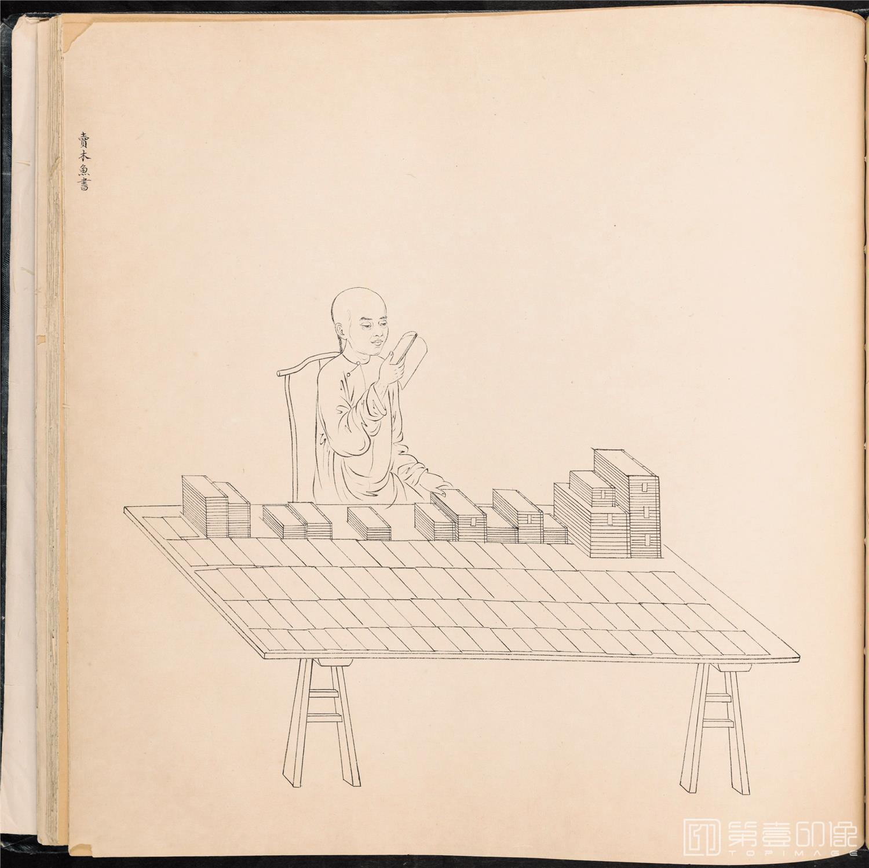 素描-清 佚名 白描街头买卖画册 纸本-003-39x42cm