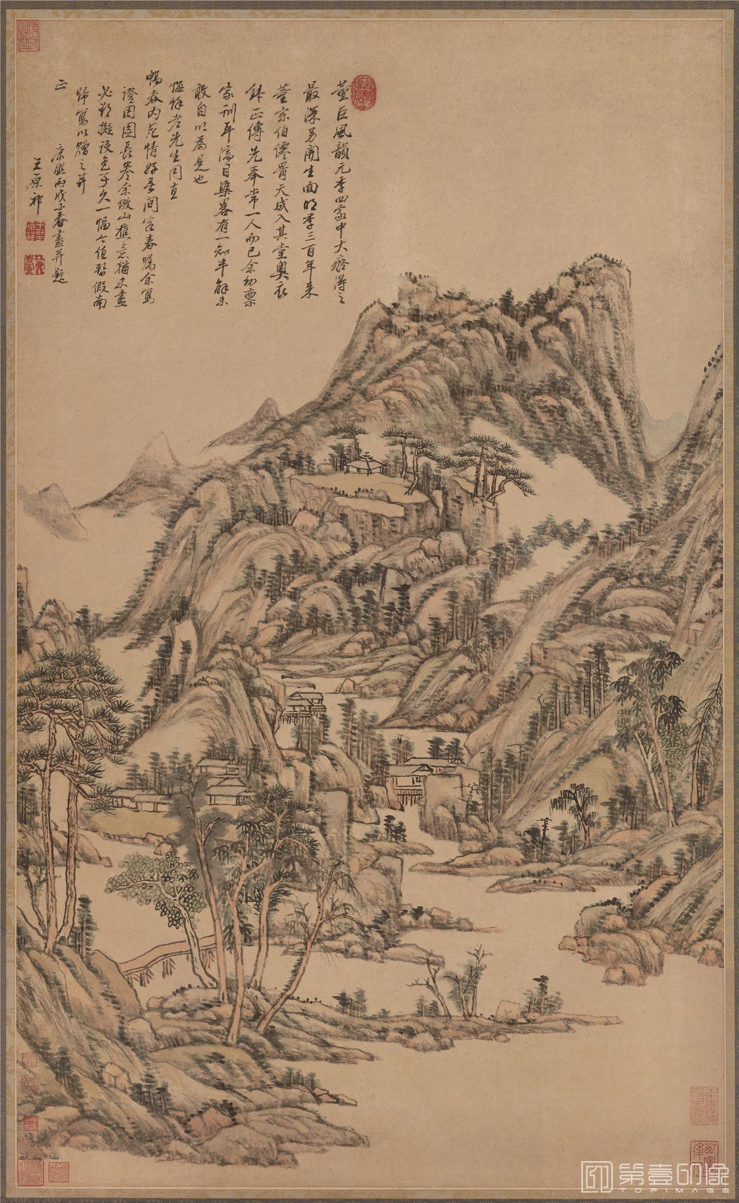 国画-国画-清 王原祁 仿古山水立轴纸本-987×597
