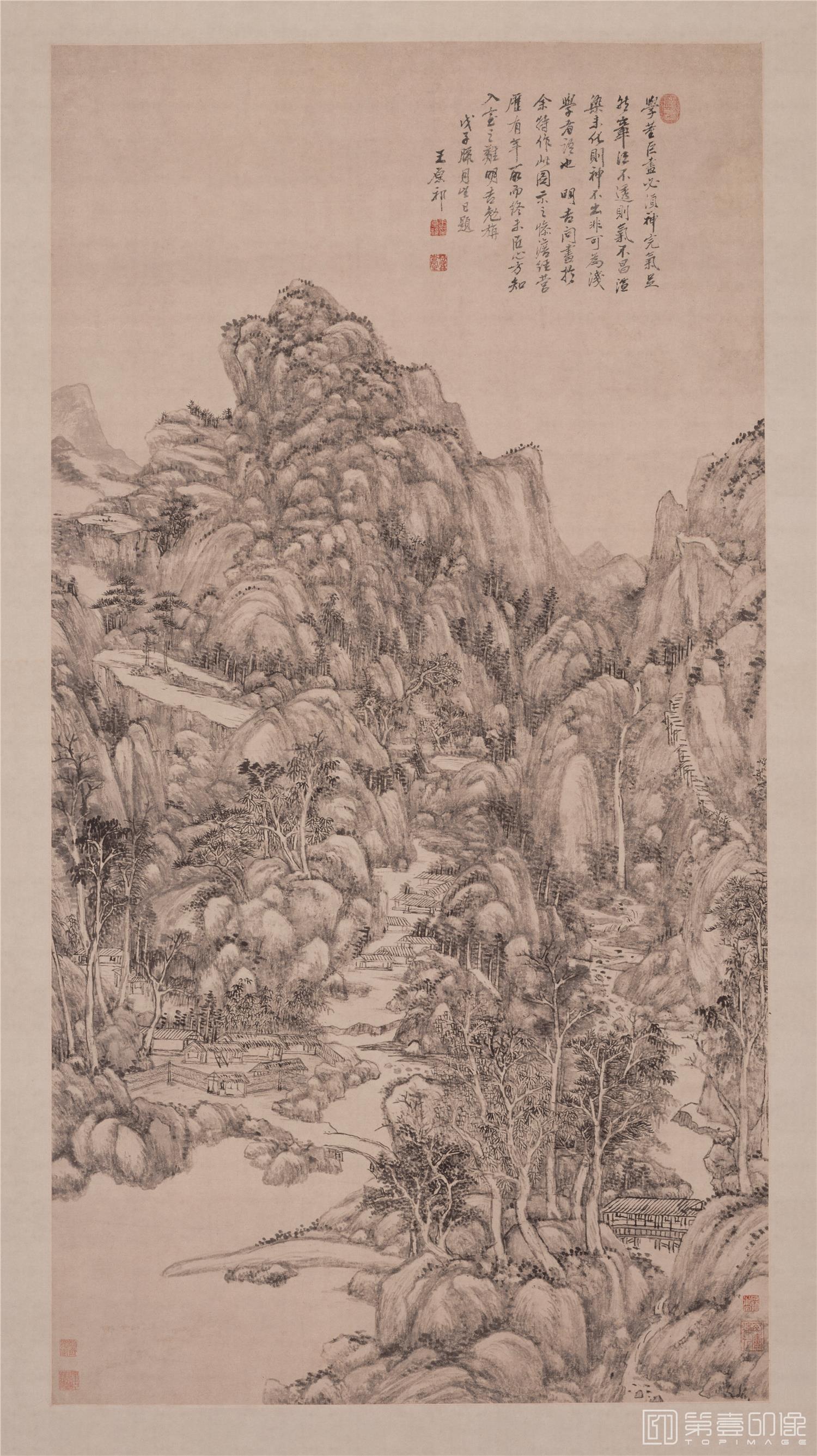 国画-国画-清 王原祁 神完气足图轴纸本-137×718cm