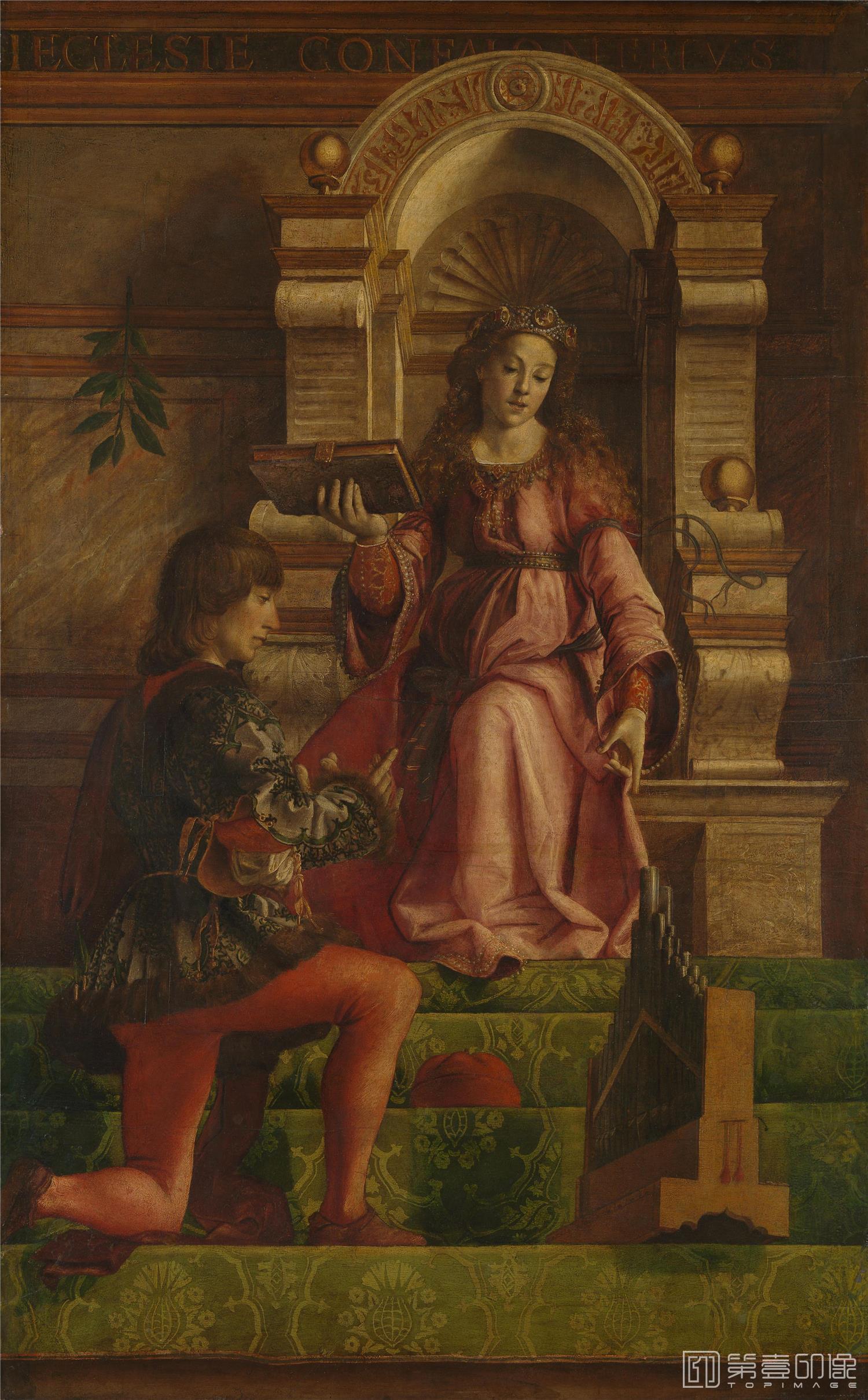 油画-Music音乐 probably 1470s, Justus of Ghent and workshop