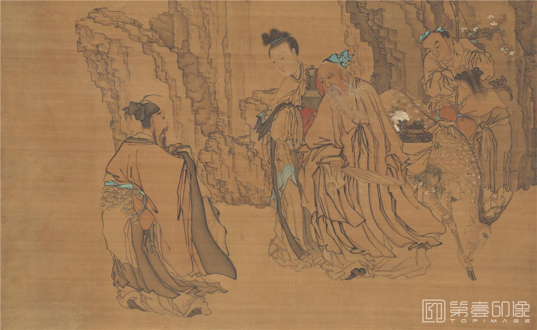 国画-清代-黄慎-山水人物图-161X99cm-02