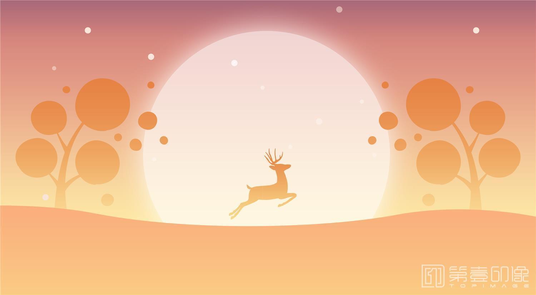 电脑绘画-麋鹿(PSD)-081