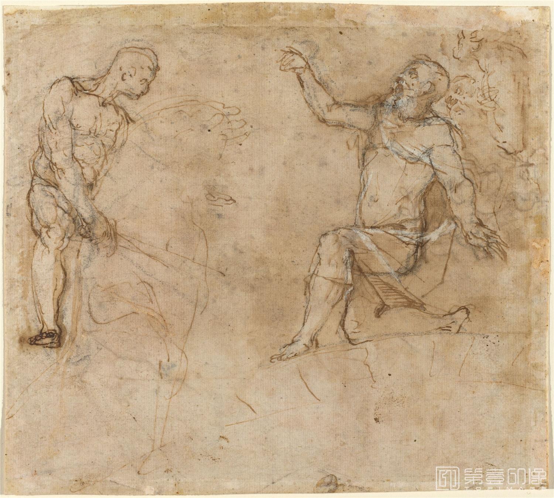 素描-美国华盛顿国立美术馆素描藏画-3116